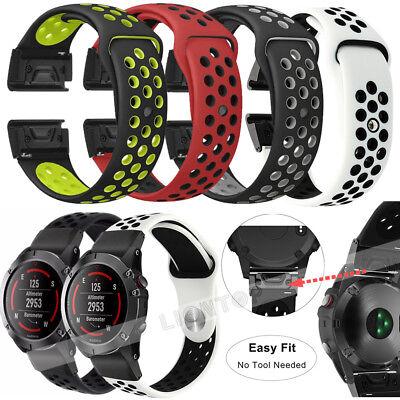 For Garmin Fenix 3 5 5X 5S Nylon/Silicone Strap Replacement Watch Band Bracelet 5