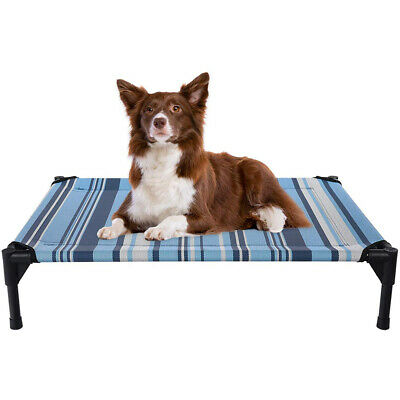 VEEHOO Elevated Dog Cat Bed Pet Cot Raised Lounger Hammock for Indoor & Outdoor 9