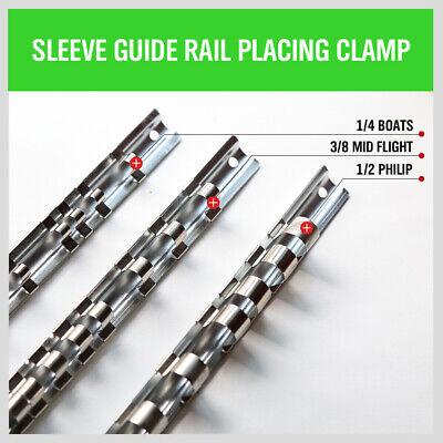 "3pc Socket Holder Rail | 1/4"" 3/8"" 1/2"" Rack Mount Steel Drawer Tray Organizer 3"