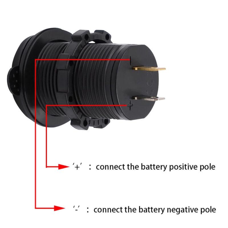 12V Car Boat switch panel Cigarette Lighter Socket 3.1A USB Charger Voltmeter 3