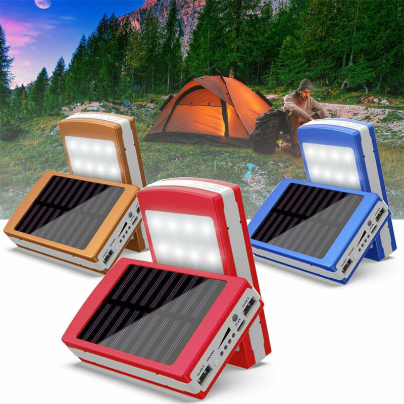 30000mAh Dual USB Portable Solar Battery Charger Power Bank For Cell Phone 5