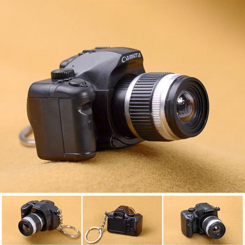 Hot Sale Camera With Flash Light Lucky Cute Charm LED Luminous Keychain New Gift 5