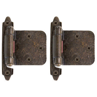 2//20//50x Kitchen Cupboard Cabinet Hinge Soft Self Closing 1//2 Overlay Face Frame
