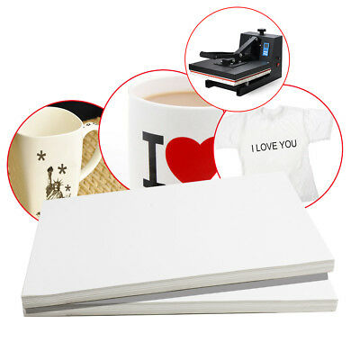 100pc A4 Sublimation ink Heat Transfer Paper for DIY Mug Plate T-Shirt 190-210℃ 2
