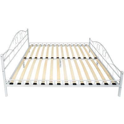 180x200 cm schlafzimmerbett bettgestell metall bett. Black Bedroom Furniture Sets. Home Design Ideas