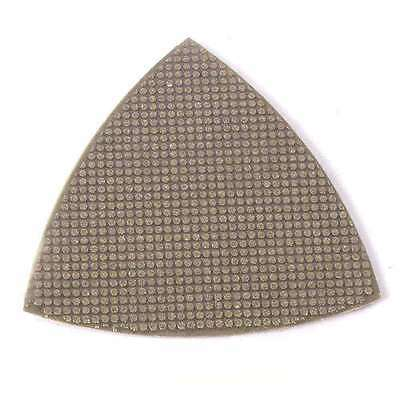 120 Grit Electroplated Diamond Triangular Polishing Pad For Oscillating Tools