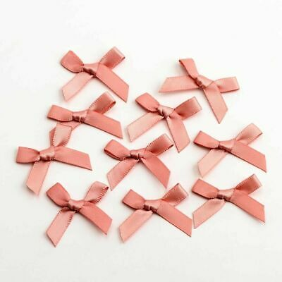 Small 3cm Wide Pre-Tied Mini Bows (6mm Satin Ribbon) Crafts Wedding Card Making 3