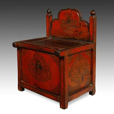 Rare Antique Buddha Stand Altar Painted Pine Tibet Chinese Furniture 19Th C. 2