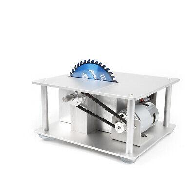 Mini Precision Table Saw DIY Woodworking Lathe Polisher Cutting Machine+3 blades 8
