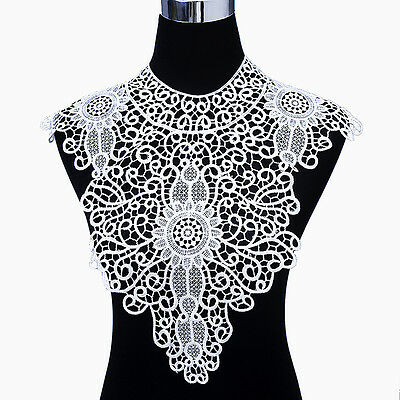 1 PC Applique Lace Fabric Sewing Craft Embellishments Trims DIY Neck Collar 4