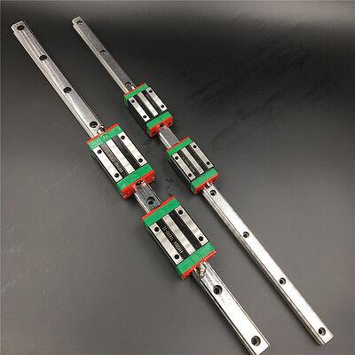Linear Rail Guide 25mm HGR25 L1500mm&2pc HGH25CA Rail Block Replace for HIWIN 6