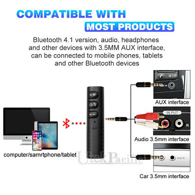 3.5mm Jack Wireless Bluetooth Receiver Audio Adapter Car AUX suit Bose Headphone 2