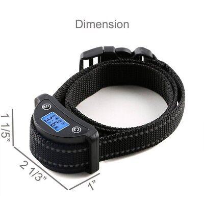 Rechargeble LCD Automatic Anti Bark No Barking Tone Shock Dog Training Collar 4