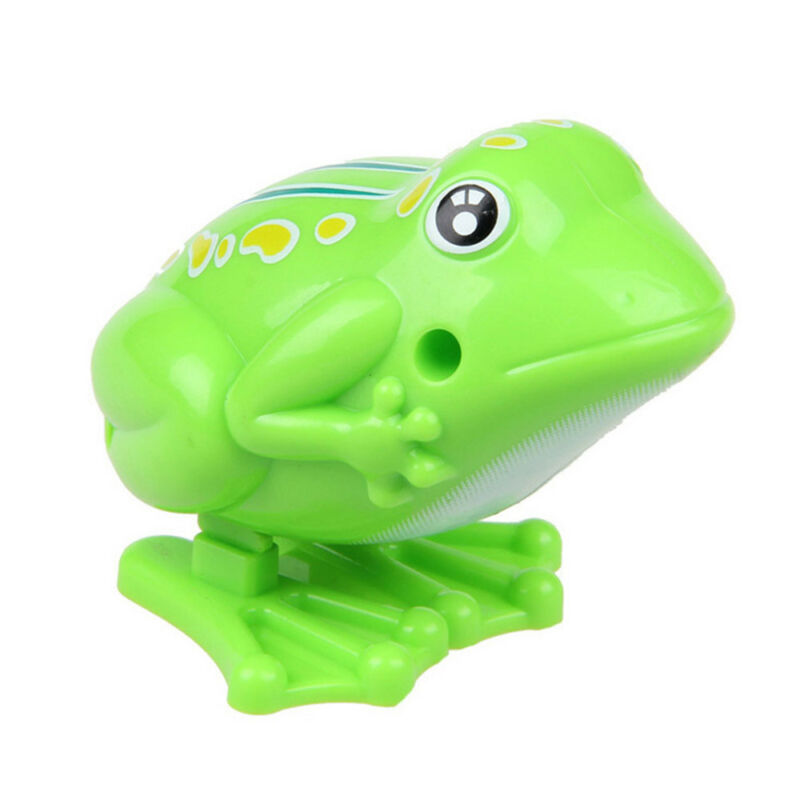 CW/_ Funny Frog Animal Jumping Model Clockwork Wind-up Educational Kids Toy Gift