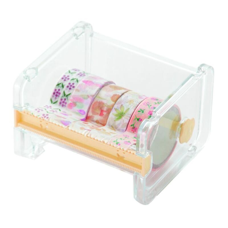 Masking Tape Cutter Washi Tape Storage Organizer Cutter Office Tape DispenserHot 8