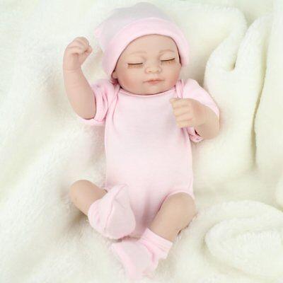 Realistic Full Silicone Vinyl Newborn Reborn Baby Girl Doll Handmade Mini Babies
