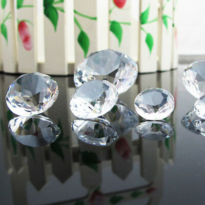 NEW Clear Glass Crystal Diamond Shape Jewel Wedding Party Table Confetti 6-100mm 3