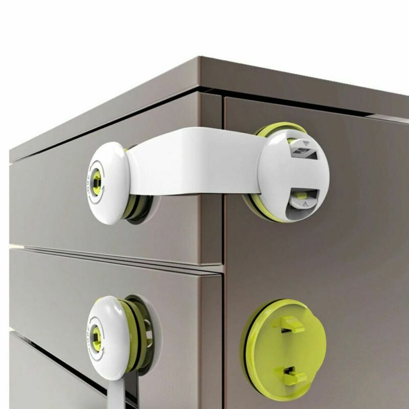 Child Kids Baby Safety Lock For Door Drawers Cupboard Cabinet Adhesive 2