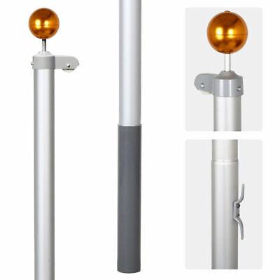 7.1M meter Aluminium Australian Aussie Flag Pole Flagpole Full Set 2