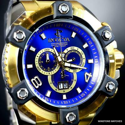 Invicta Reserve Grand Octane Arsenal 2 Tone Steel 63mm Swiss Mvt Blue Watch New 4