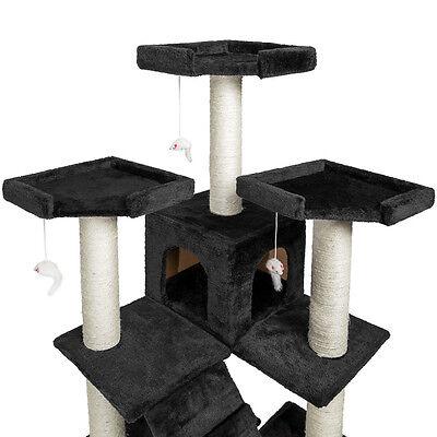 Arbre à chat griffoir grattoir 186cm NOIR 3