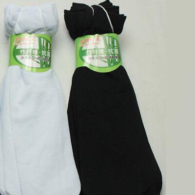 10 Pairs Men Socks Bamboo Fiber Ultra-thin Elastic Silky Short Silk Stockings