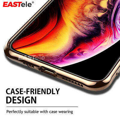 2x Apple iPhone XS MAX XR X GENUINE EASTele Tempered Glass Screen Protector Film 6