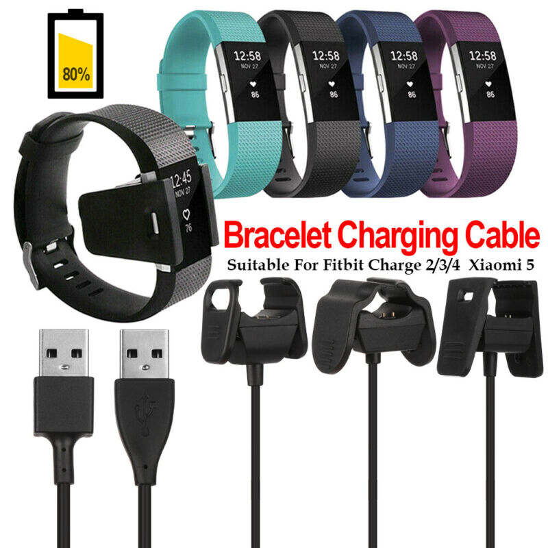 USB Charger Charging Cable Cord Wire For Fitbit Charge 2//3//4 Xiaomi 5 Bracelet