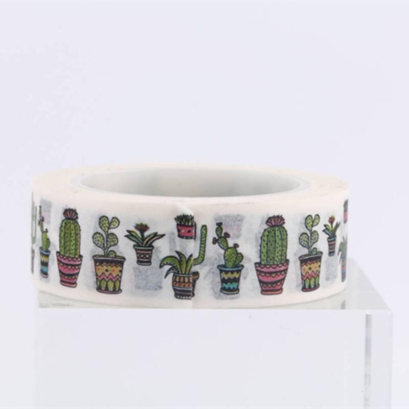 DIY Cute Cactus Washi Tape Decorative Adhesive Tape Masking Diary Decoration 4