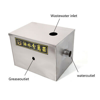 Kitchen Upgraded Grease Trap Interceptor Stainless Steel Wastewater Mineral Oil 2