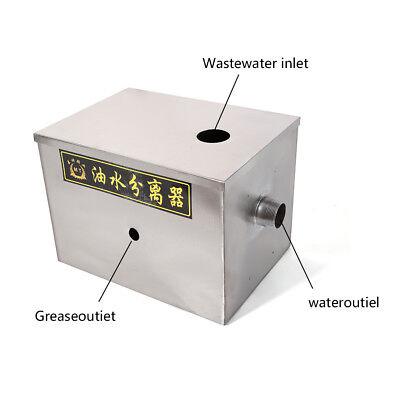 Single Inlet 50m3/h Grease Trap Interceptor Oil Water Separator Kitchen Steel 2