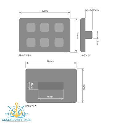 12V-24V 6 Gang Led Switch Panel Waterproof Slim Touch Panel - Boat/caravan/rv
