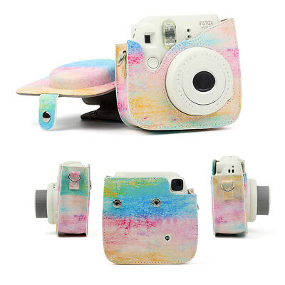Fujifilm Instax Mini 8 9 Film Instant Camera Flamingo Bag PU Leather Cover Case 10