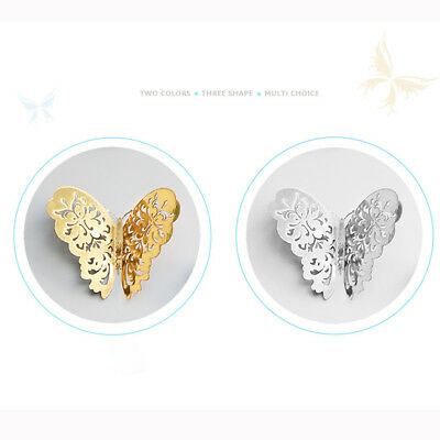 12 Pcs 3D Hollow Wall Stickers Butterfly Fridge For Home Decoration Stickers 11