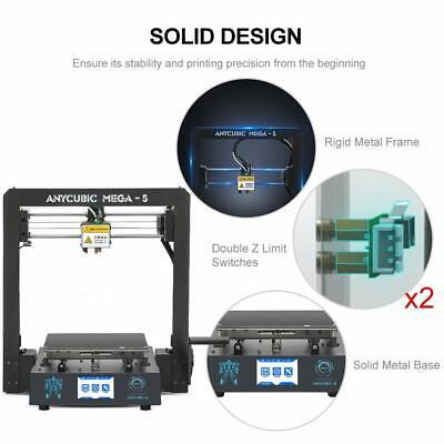 CA Anycubic 3D Printer i3 Mega-S All Metal Frame Colorful TFT Screen PLA ABS TPU 8