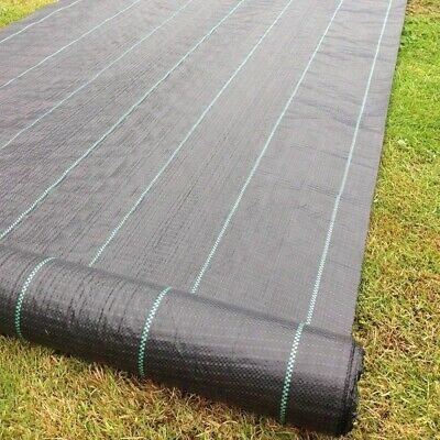 1m 2m 4m Wide 100gsm Heavy Duty Weed Control Fabric Membrane Mulch Garden Cover 7