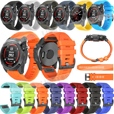 New For Garmin Fenix 6 / 6X 6X Pro Solar Soft Silicone Quick Easy Fit Watch Band 4