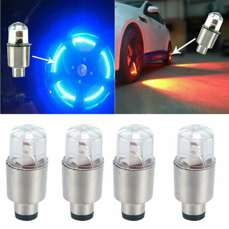 4 x LED Dragonfly Car Wheel Tyre Light Bulb Tire Air Valve Stem Cap Lamp Decor 8