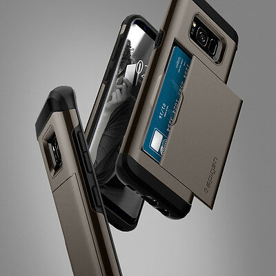 sale retailer 1223c 4f895 SPIGEN® SAMSUNG GALAXY S8 / S8 Plus [Slim Armor CS] Shockproof Wallet Case  Cover