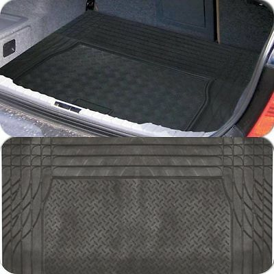 Cutting Lines Large Durable Black Rubber Car Boot Mat Liner for VW California
