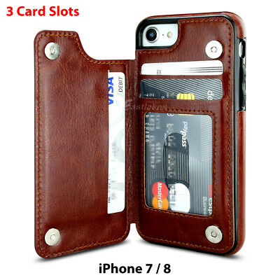 Apple iPhone X XS MAX 8 PLUS XR Case Flip Leather Wallet Card Shockproof Cover 10
