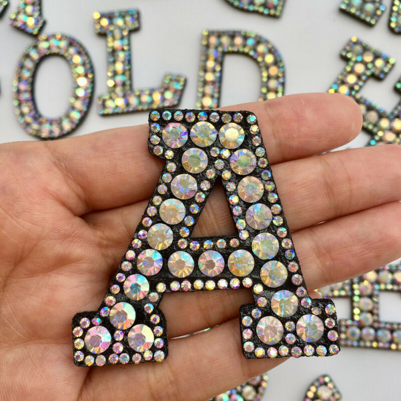 Color Alphabet Letter Patch Embroidered Sew Iron on Badge Patches Applique DIY 8