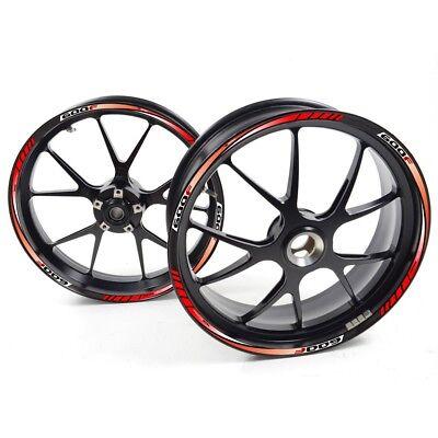 FRFR Liseret jantes Honda argent CBF 600 S 600S 600-S Rouge Blanc autocollant ja