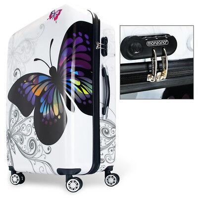 Monzana® Hartschalenkoffer Butterfly Trolley Reisekoffer Koffer M L XL 4 Rollen 5