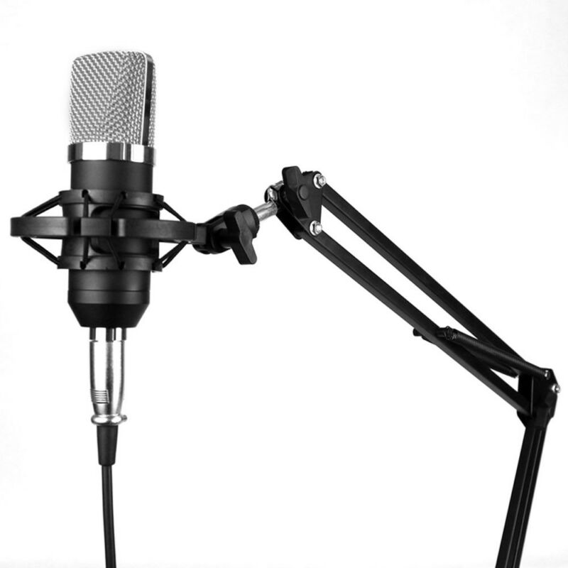 NW-800 Studio Condenser Microphone Mic Sound Recording Kit with Shock Mount UK 9