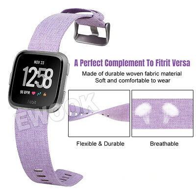 Replacement Band For Fitbit Versa Fabric Luxury Watch Sports Strap Wristband 3