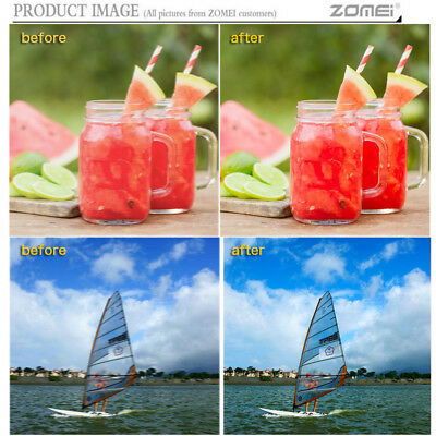 ZOMEI UV Filter Camera Lens Protector for Canon 52/55/58/62/67/72/77/82/86mm 10