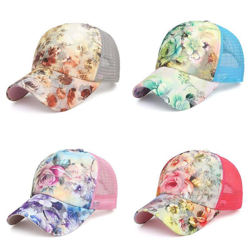 Women Ponytail Baseball Cap Mesh Sun Hats Snapback Baseball Cap Sports Caps - 2