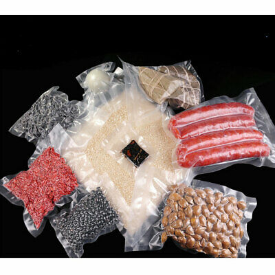 100 X Vacuum Sealer Bags Precut Food Storage Saver Heat Seal Cryovac 3 Size 6