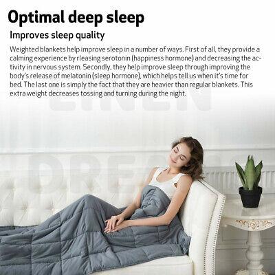 Weighted Blanket Deep Relax Sleeping Gravity for Adult Men Women Kid 9/7/5/11KG 2